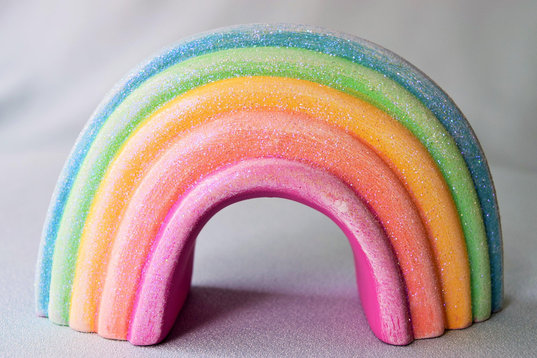Rainbow Wedding Cake Topper Birthday Cake Topper Gift