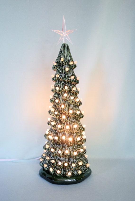 Tall Slim Christmas Tree.Vintage Style Lighted Christmas Tree Tall Slim Christmas Tree Christmas Centerpiece Lighted Christmas Tree 13 Inches Tall