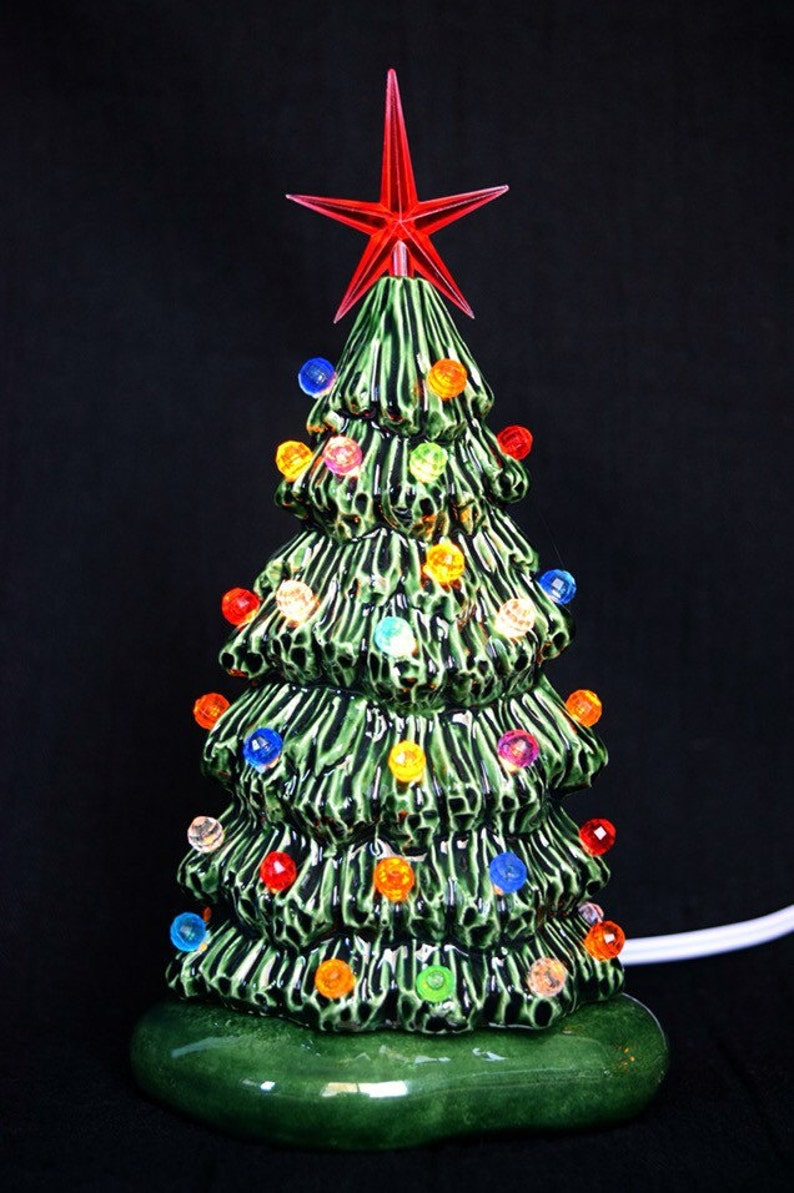 Slim Christmas Tree Lighted Ceramic Christmas Tree Holiday Tree Light 5 75 Inch Size Xsmall Christmas Tree Light Gift For Mom