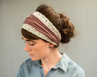 6dbfe6ad2ed Soft Plum Vintage Stretch Cecily Headwrap Garlands of Grace