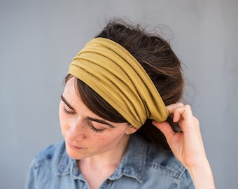 Light Olive Anywhere STRETCH HeadWrap Garlands of Grace | Headband Hair wrap headcovering