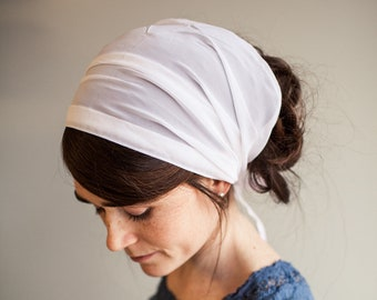 Chiffon Headwrap Garlands of Grace || hair wrap headcovering veil headband