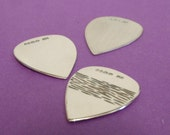 Sterling Silver Guitar Pick - Plectrum. Any problem you can not solve with a good guitar is either,unsolvable or not a problem.