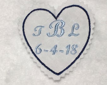 Wedding Dress Label, Father of the Bride Tie Label, Tie Patch, Mens tie label, Wedding Gift for Men,