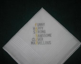 Father's Day Handkerchief hankie hanky #190 Daddy, Dad, Father, Pop, Pops,