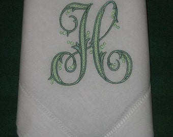 12  Personalized Linen hemstitched dinner napkins, Wedding Gift, Anniversary,House Warming,  FREE shipping in the US