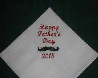 Father's Day handkerchief. 194S FREE Gift box and FREE shipping in the US