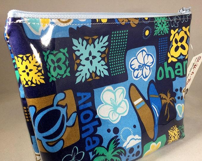 Make Up Bag - Aloha Ohana (Family) Keiki (Child) Surf Zipper Pouch