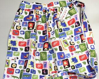 Half Apron - Vintage Pin Up Skirt Style - Jungle Zoo Animals