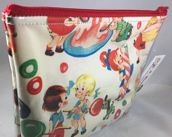 Make Up Bag - Retro Candy Kids Zipper Pouch