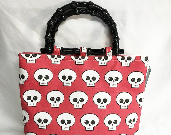 Handbag - Red Skully Medium Size