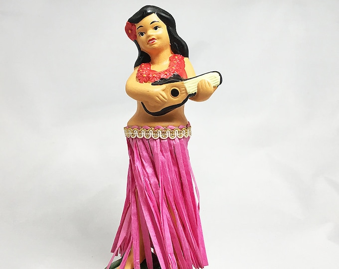 Dashboard Hula Ukulele Girl Traditional Style Doll