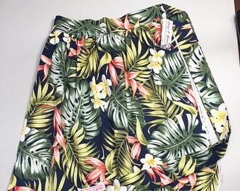 Half Apron - Vintage Pin Up Skirt Style - Hawaiian Print