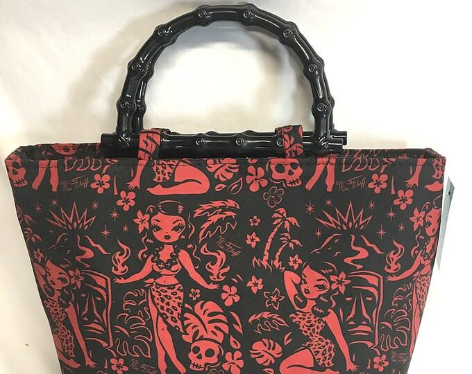Handbag - Tiki Temptress Red by Miss Fluff