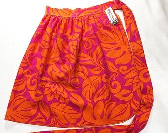 Half Apron - Vintage Pin Up Skirt Style - Groovy Hawaiian