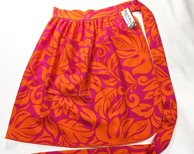 Half Apron - Vintage Pin Up Skirt Style - Groovy Hawaiian