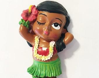 Refrigerator Magnet - Hula Posing Girl