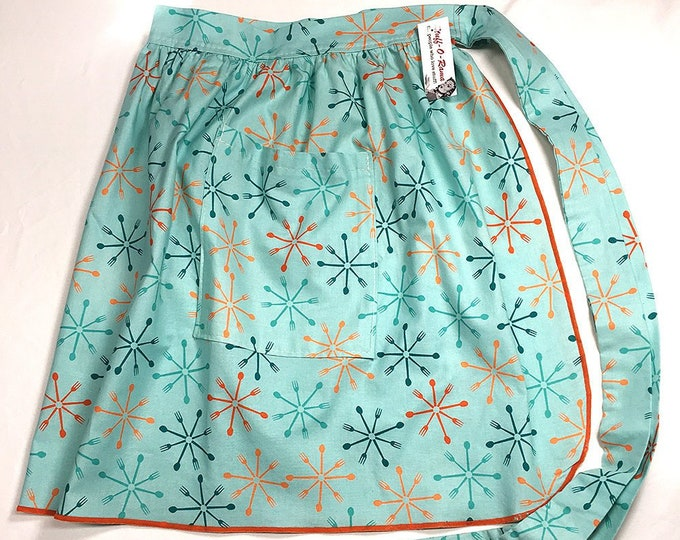 Half Apron - Vintage Pin Up Skirt Style - Atomic Silverware