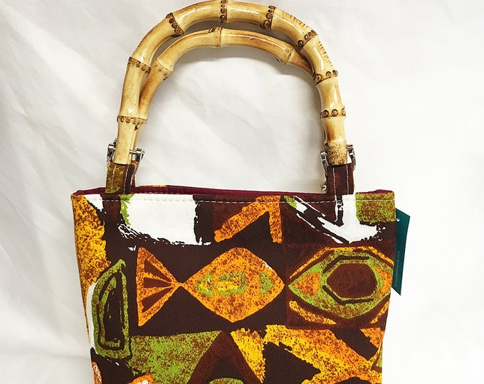 Handbag - Retro 60s Hawaiian Tiki Small Size