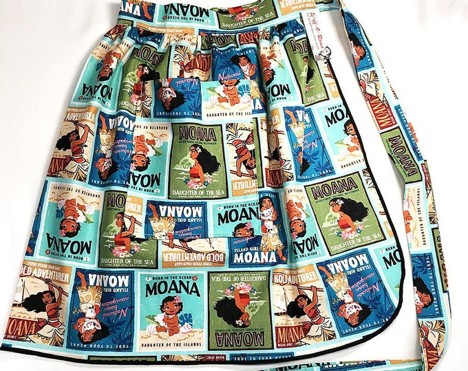 Half Apron - Vintage Pin Up Skirt Style - Moana Posters