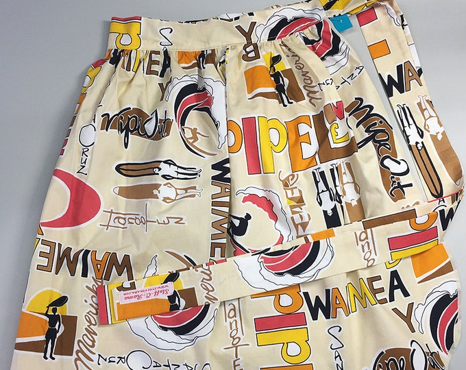 Half Apron - Vintage Pin Up Skirt Style - Surfs Up