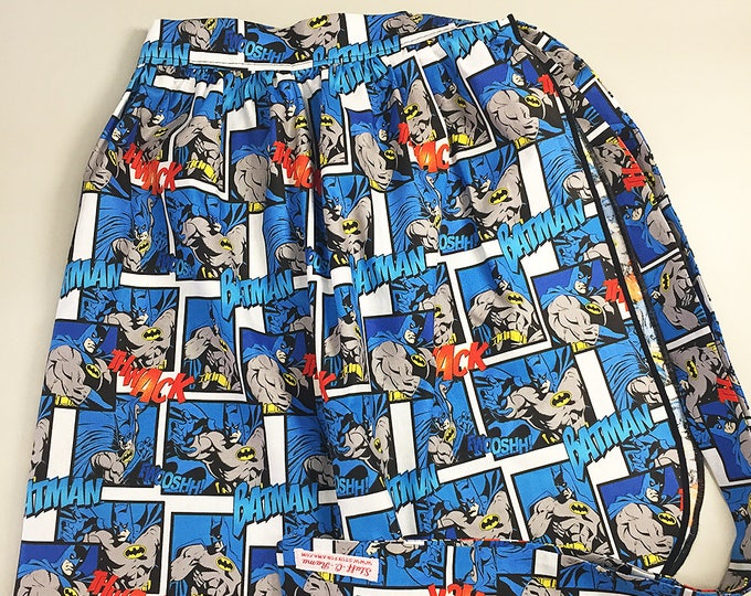 Half Apron - Vintage Pin Up Skirt Style - Batman