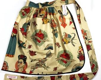 Skirt Apron - Vintage Pin Up Style - Frida Kahlo