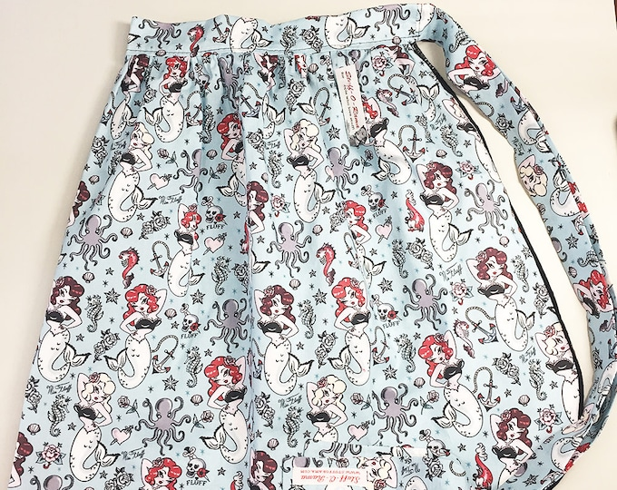 Half Apron - Vintage Pin Up Skirt Style - Miss Fluff Molly Mermaid