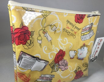 Make Up Bag - Beauty and the Beast Zipper Pouch