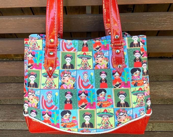 Vinyl Shoulder Bag - Folklorico Todo La Vida - Day of the Dead - Handbag - Purse