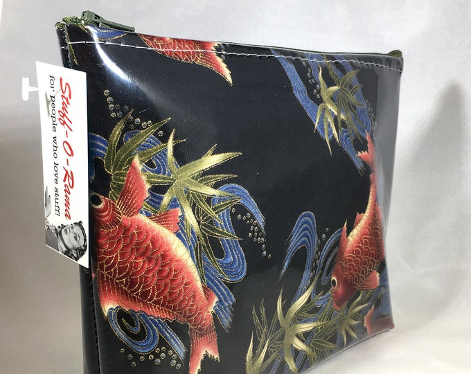 Make Up Bag - Koi Fish Zipper Pouch