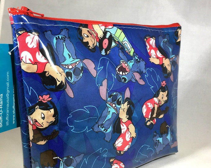 Make Up Bag - Lilo and Stitch Record Player Zipper Pouch