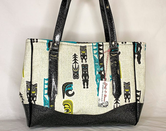 Vinyl Shoulder Bag - Midcentury Tikis by Michael Uhlenkott