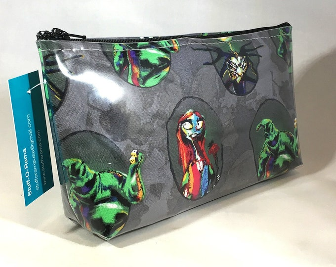 Make Up Bag - Nightmare Before Christmas Half Size Zipper Pouch