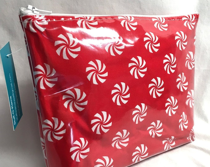 Make Up Bag - Peppermint Starlite Candy Zipper Pouch