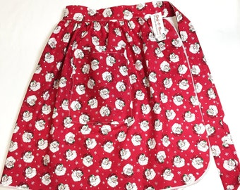 Half Apron - Vintage Pin Up Skirt Style - Retro Santa Claus