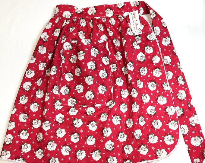 Half Apron - Vintage Pin Up Skirt Style - Retro Santa Claus