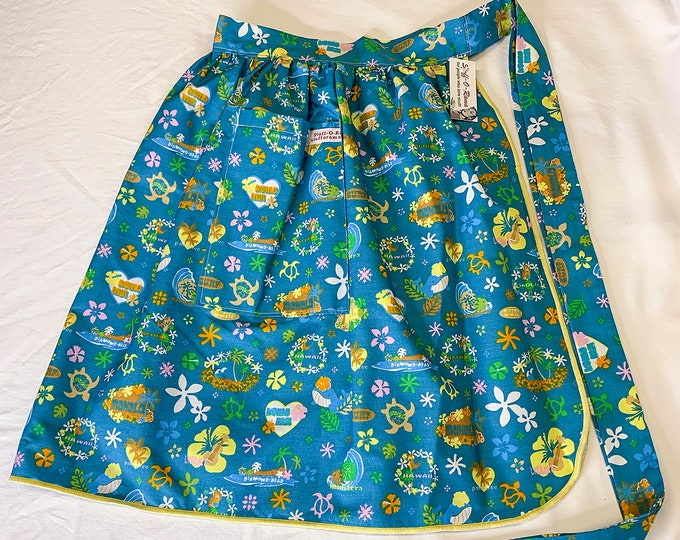 Half Apron - Vintage Pin Up Skirt Style - Hawaiian Islands Icons