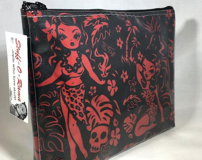 Make Up Bag - Tiki Temptress by Miss Fluff Zipper Pouch