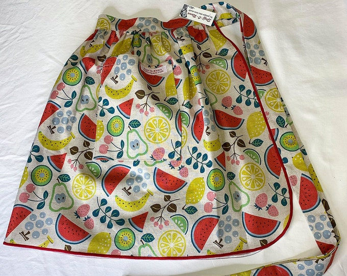 Half Apron - Vintage Pin Up Skirt Style - Fruit