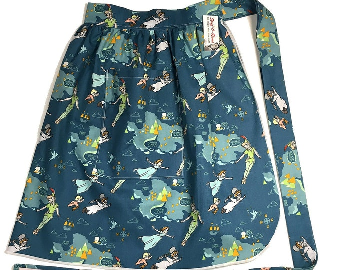 Half Apron - Vintage Pin Up Skirt Style - Peter Pan
