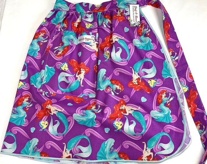 Half Apron - Vintage Pin Up Skirt Style - Little Mermaid