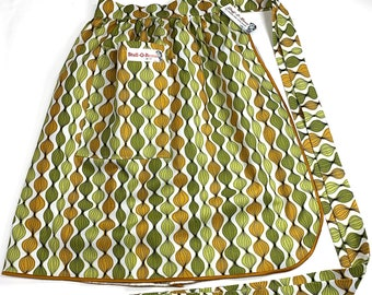 Retro MCM Onion Stripe - Half Apron - Vintage Pin Up Skirt Style