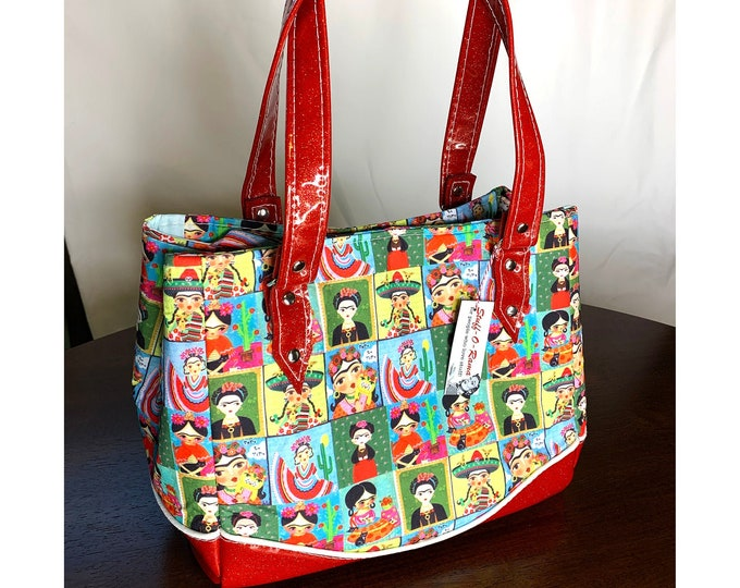 Mexico Folklorico Todo La Vida - Glitter Vinyl Shoulder Bag - Handbag - Purse - Bag