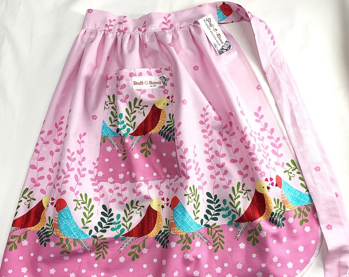 Love Birds - Half Apron - Vintage Pin Up Skirt Style