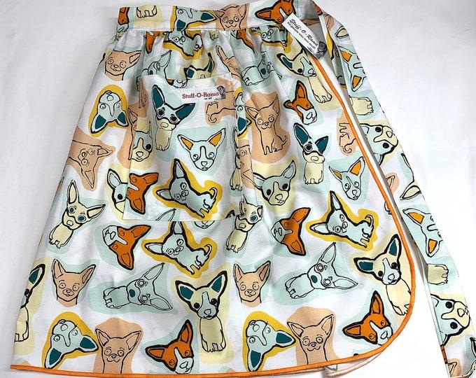 Half Apron - Vintage Pin Up Skirt Style - Ay Chihuahua