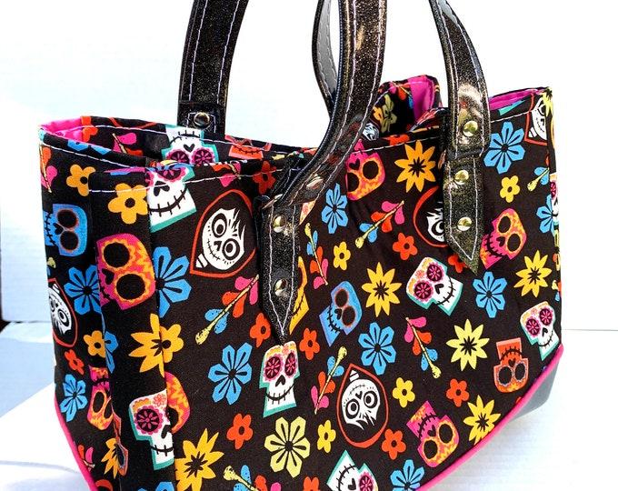 Vinyl Shoulder Bag - Coco - Black - Dia De Los Muertos - Day of the Dead - Disney - Pixar - Handbag - Purse