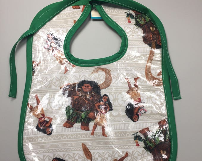 Wipeable Baby Bibs - Moana