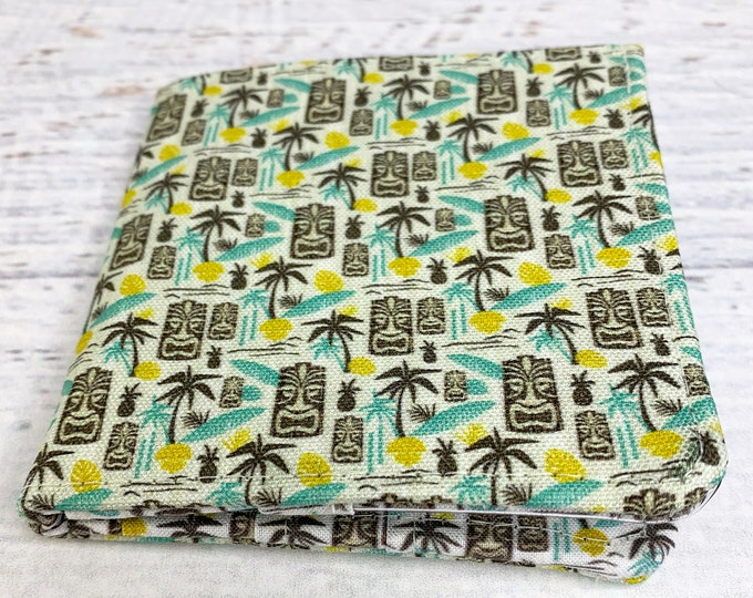 Island Tiki - Cotton Canvas Bi-Fold Wallet - Billfold - Tiki - Disneybound - Enchanted Tiki Room