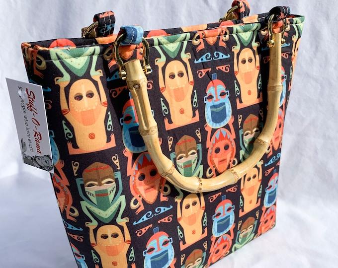 Tote Bag Purse Handbag - Tiki Room Totem Poles